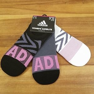 Adidas super no show 3pair socks